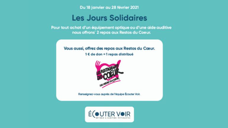 Les Jours Solidaires chez Ecouter Voir Optique & Audition Mutualiste